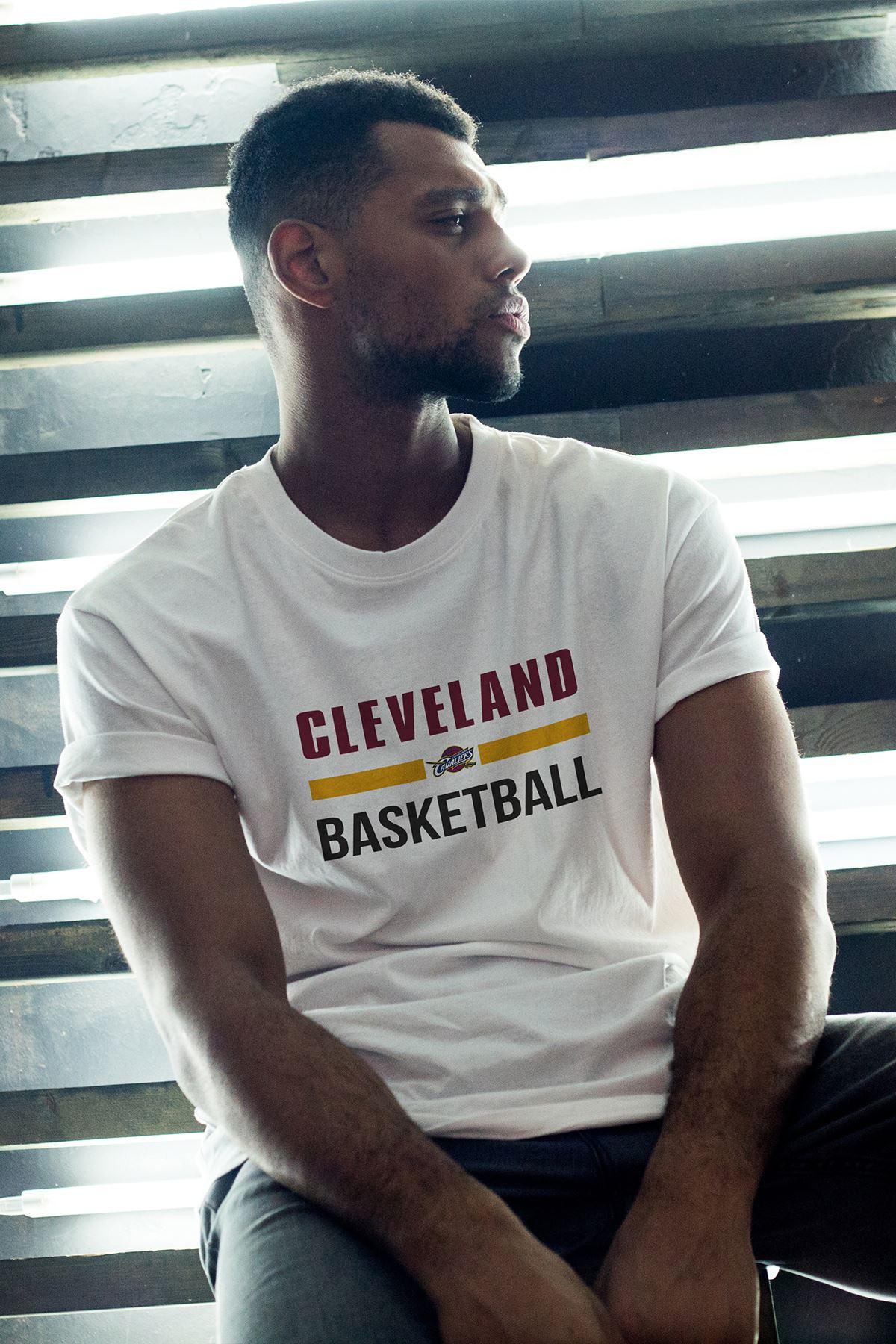 Cleveland 05 Beyaz Erkek Oversize Tshirt - Tişört