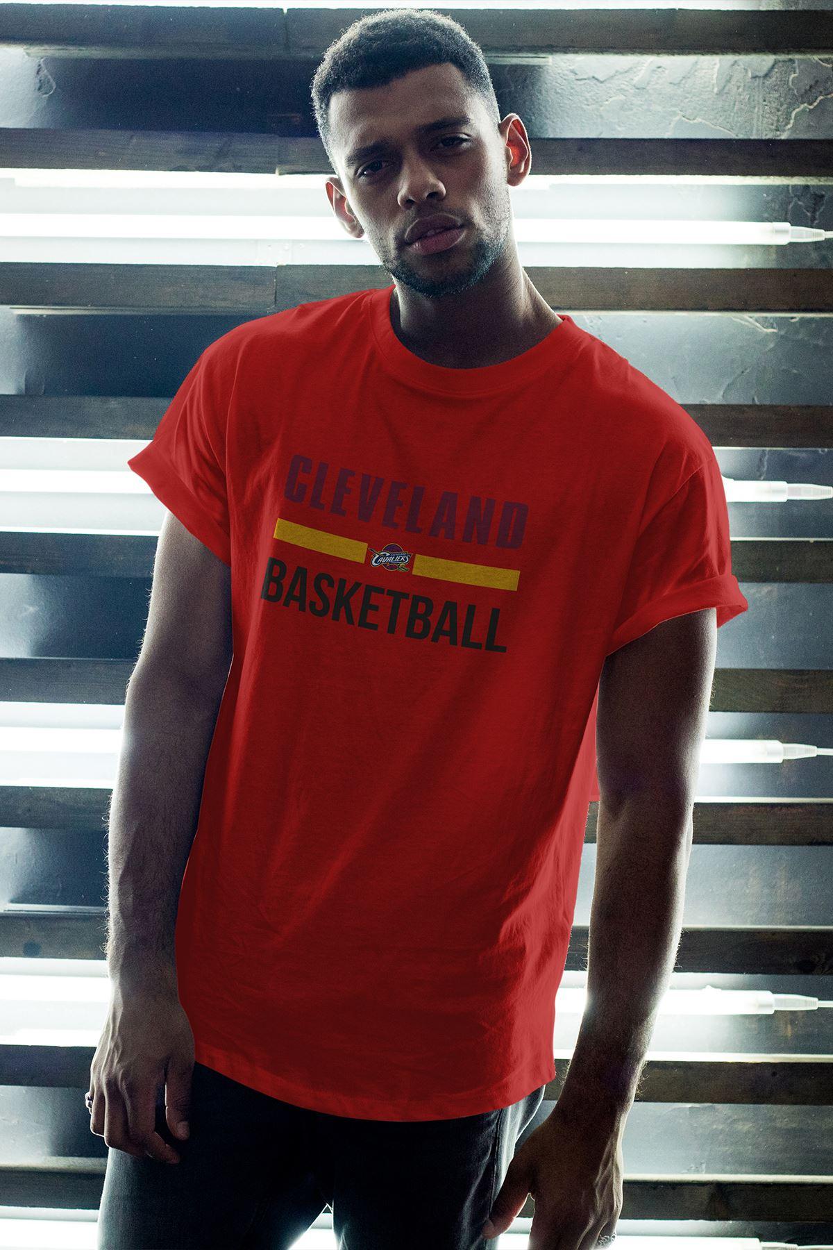 Cleveland 05 Kırmızı Erkek Oversize Tshirt - Tişört