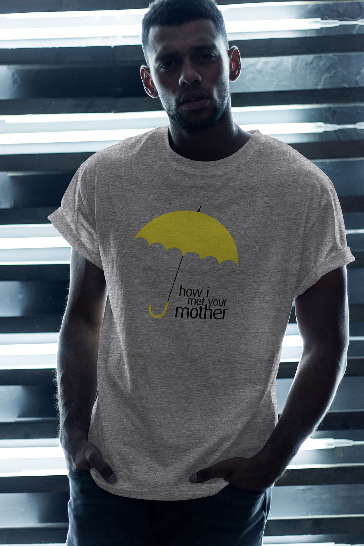 Meet Mother 03 Gri Erkek Oversize Tshirt - Tişört