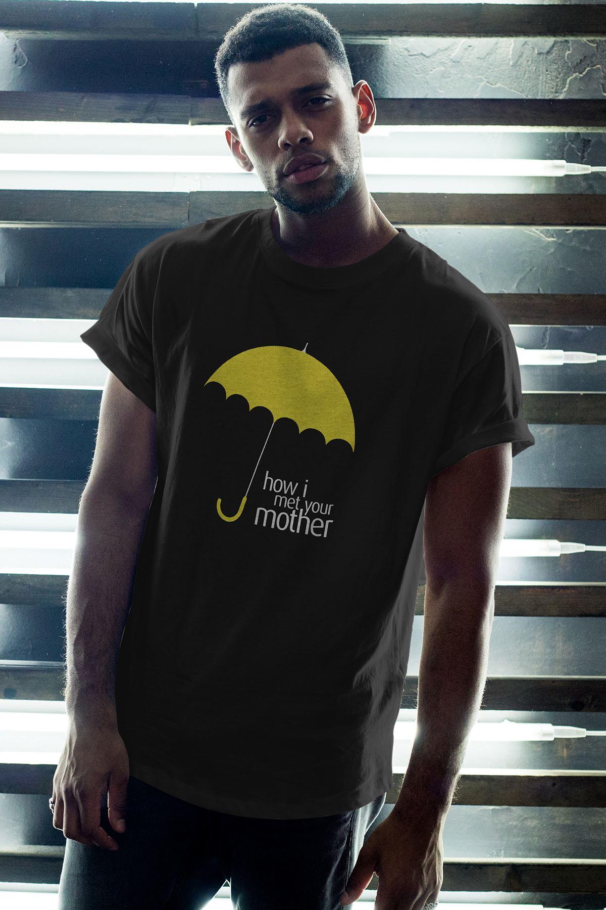 Meet Mother 03 Siyah Erkek Oversize Tshirt - Tişört