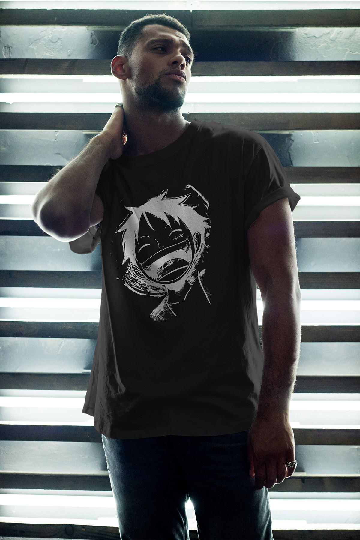 Naruto Anime 14 Siyah Erkek Oversize Tshirt - Tişört