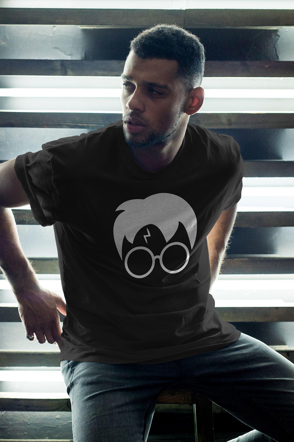 Harry Potter 02 Siyah Erkek Oversize Tshirt - Tişört