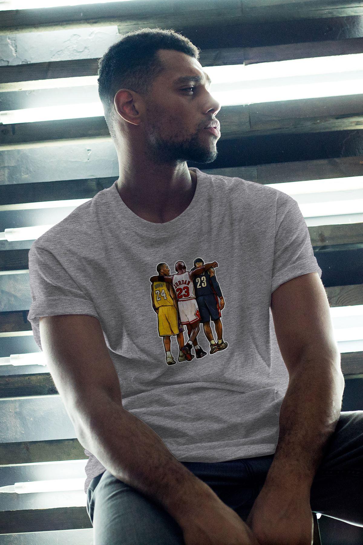 Legends 40 Gri Erkek Oversize Tshirt - Tişört