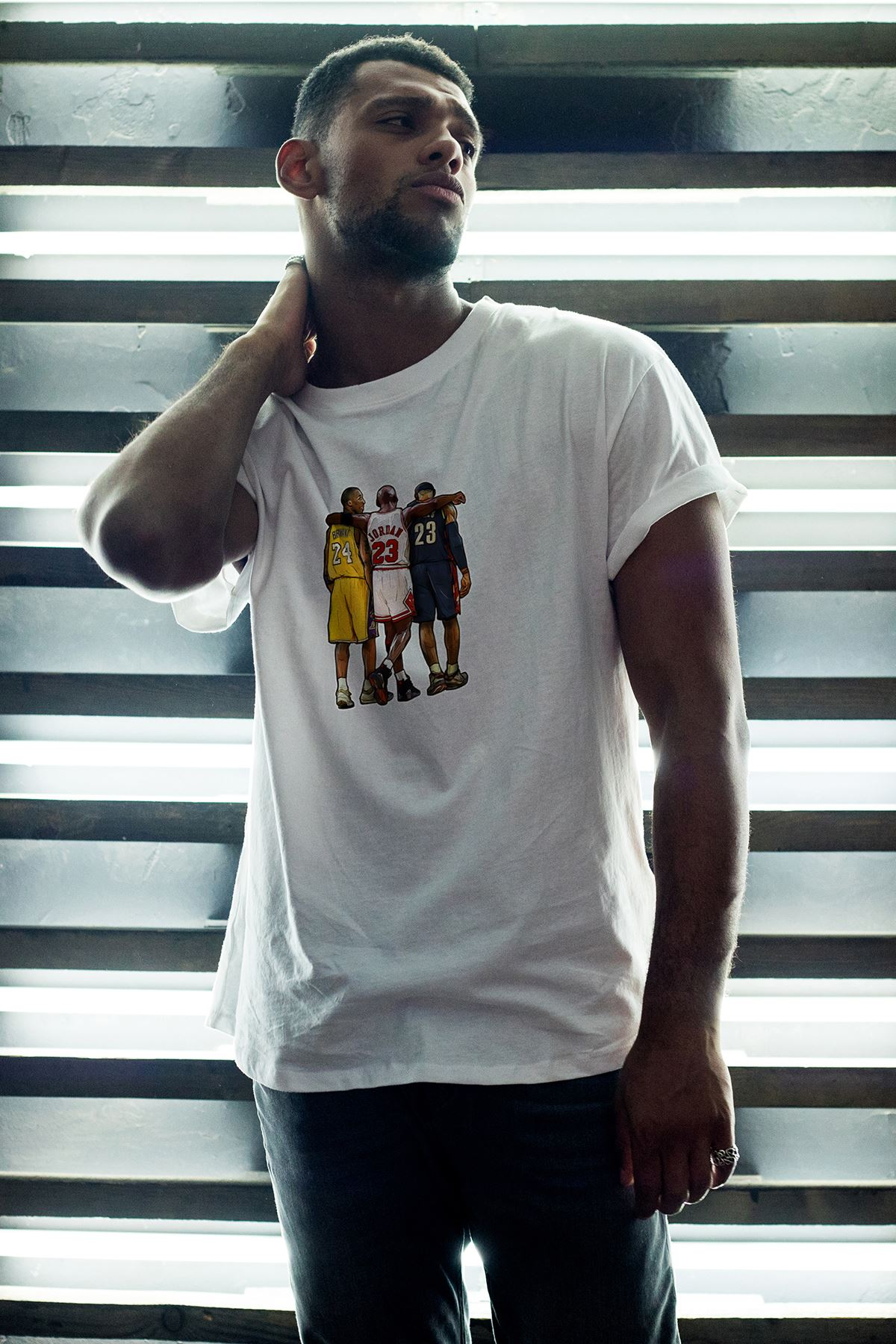 Legends 40 Beyaz Erkek Oversize Tshirt - Tişört