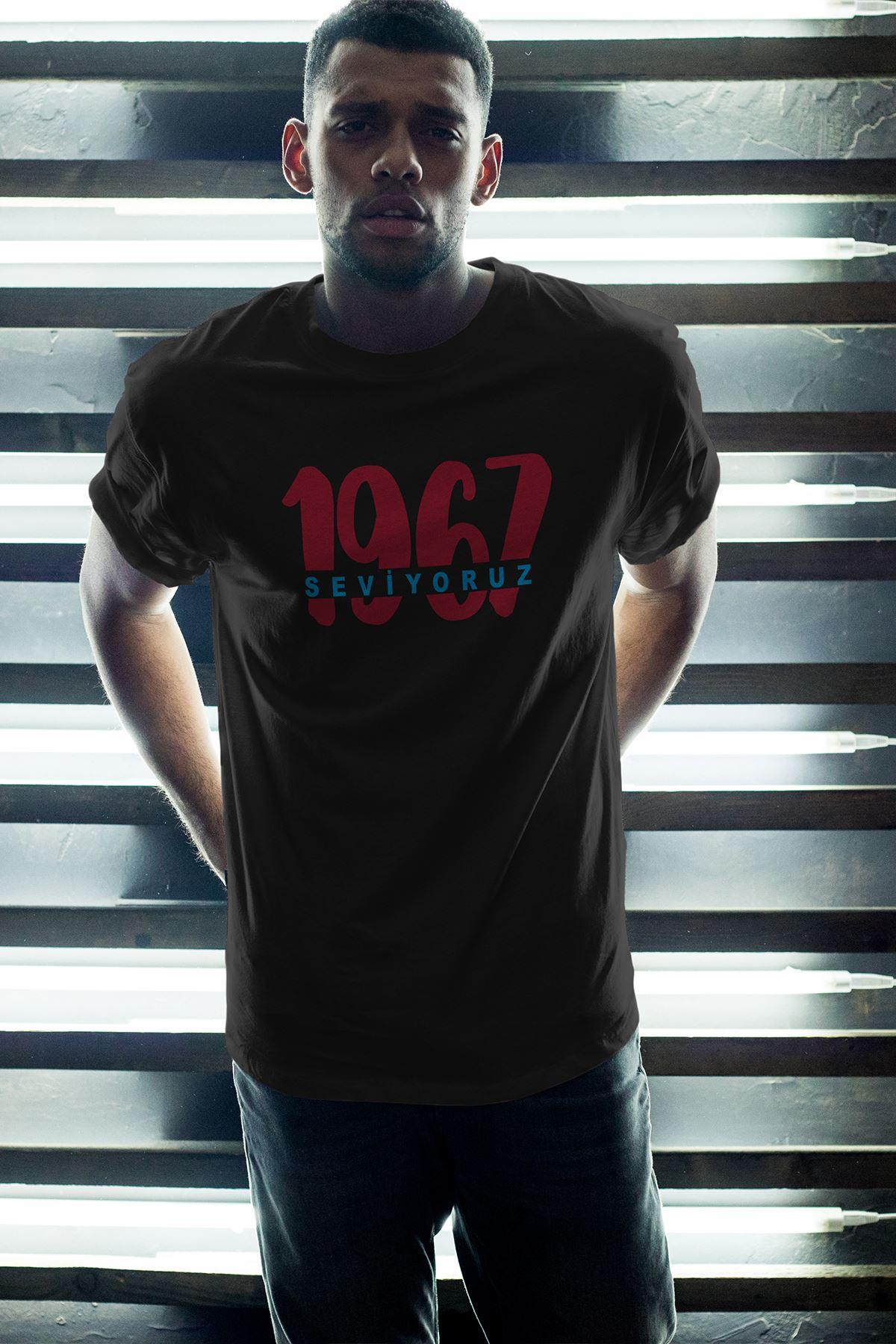 1967-2 TS Siyah Erkek Oversize Tshirt - Tişört