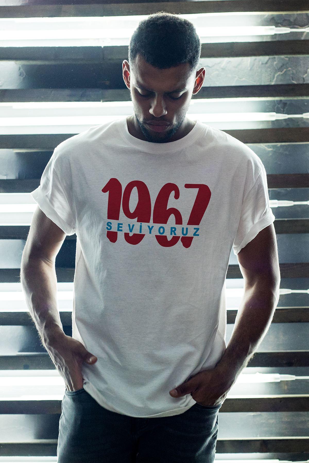 1967 TS-2 Beyaz Erkek Oversize Tshirt - Tişört