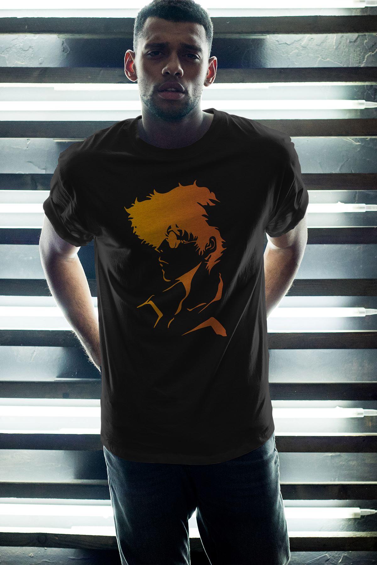 Anime Bebop 04 Siyah Erkek Oversize Tshirt - Tişört