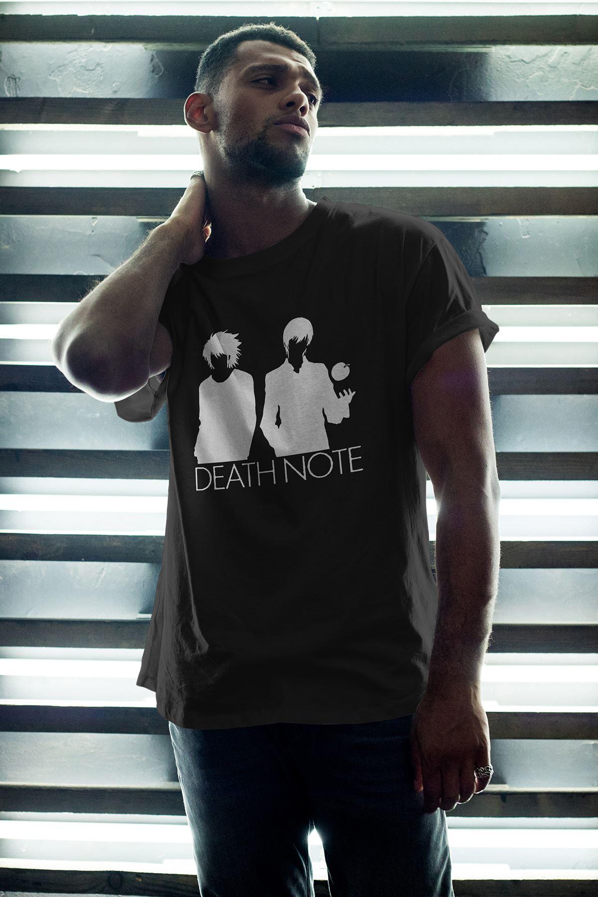 Anime Death Note 07 Siyah Erkek Oversize Tshirt - Tişört