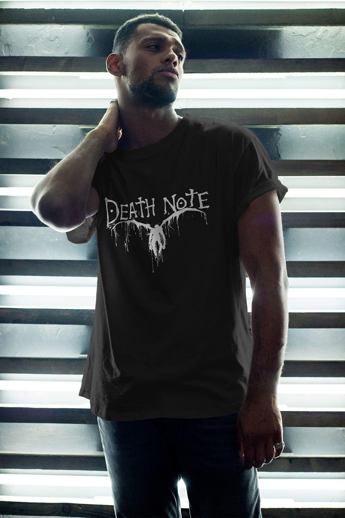 Anime Death Note 06 Siyah Erkek Oversize Tshirt - Tişört