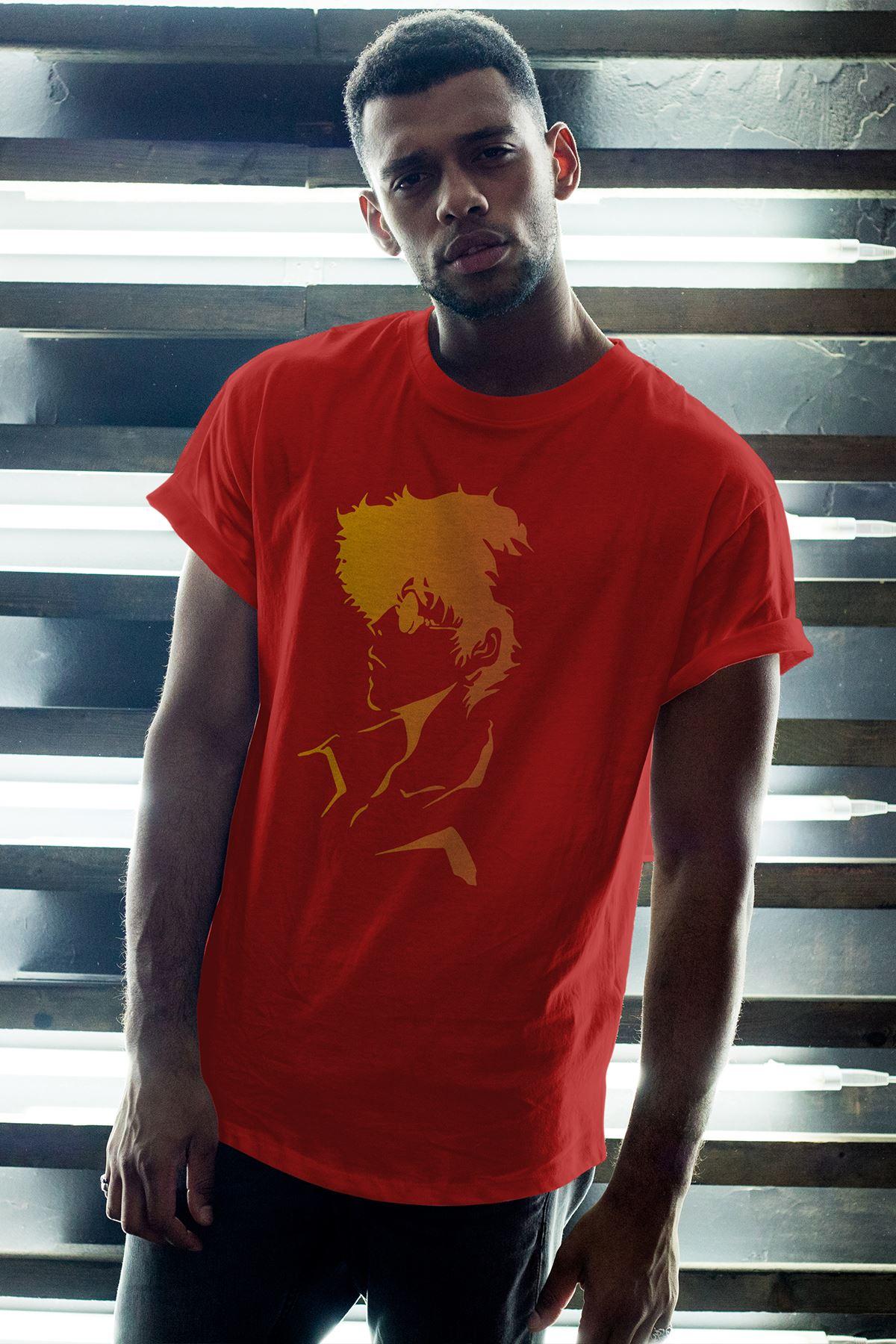 Anime Bebop 04 Kırmızı Erkek Oversize Tshirt - Tişört