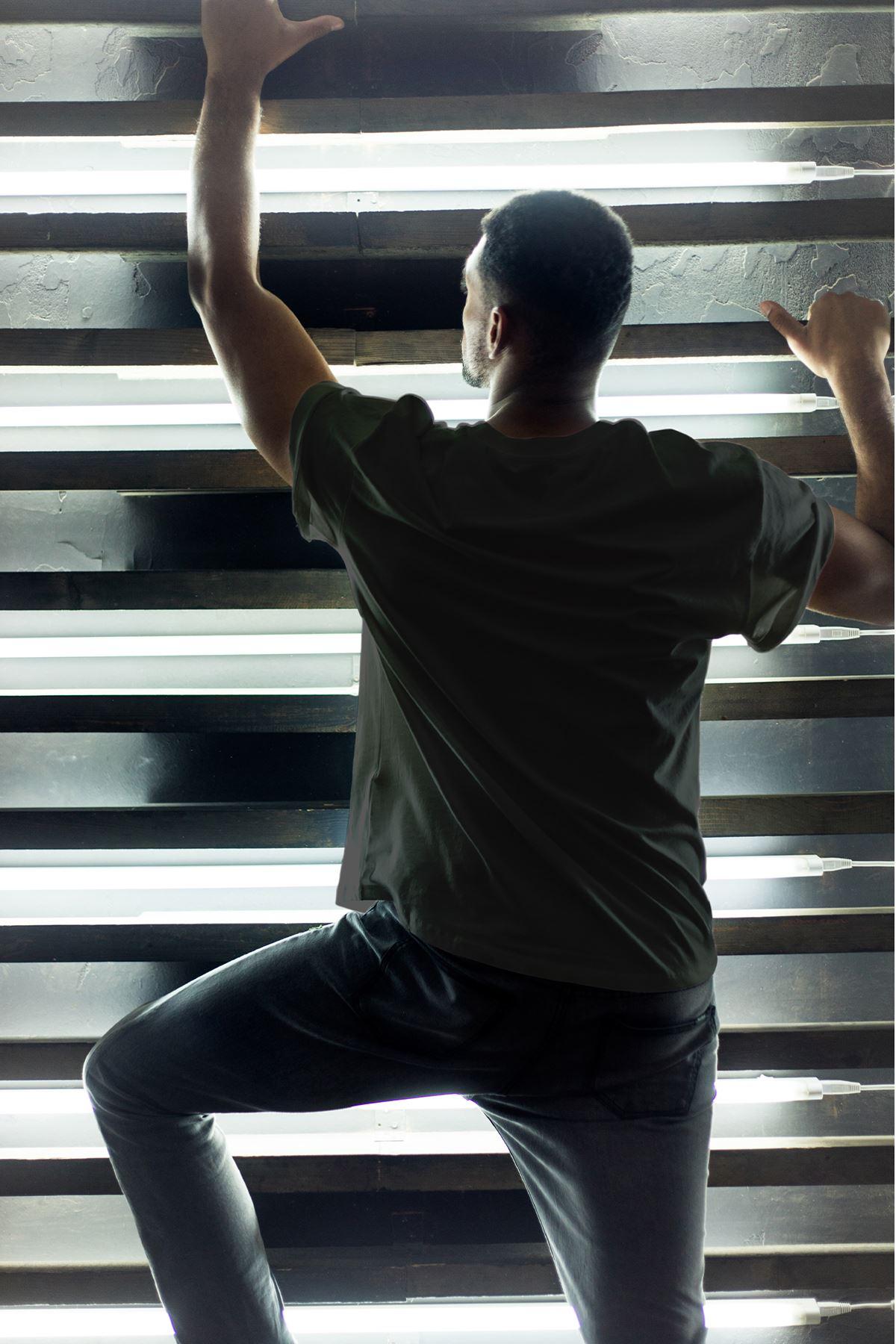 Astro World Siyah Erkek Oversize Tshirt - Tişört