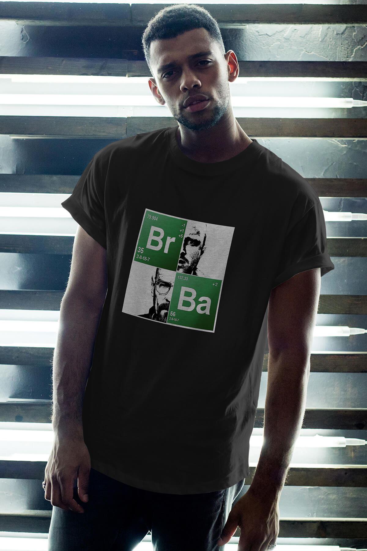 Breaking Bad BR-BA 19 Siyah Erkek Oversize Tshirt - Tişört