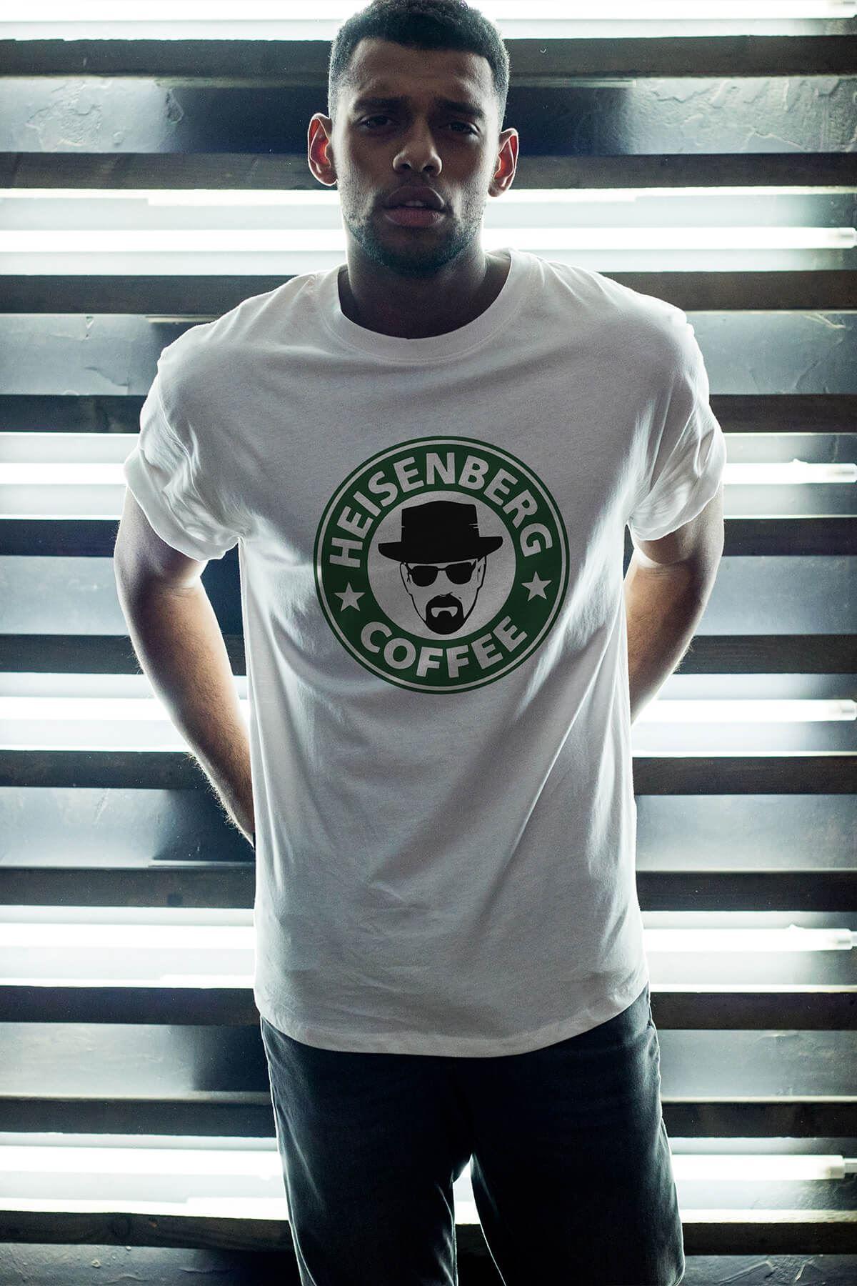 Breaking Bad Heisenberg 14 Beyaz Erkek Oversize Tshirt - Tişört