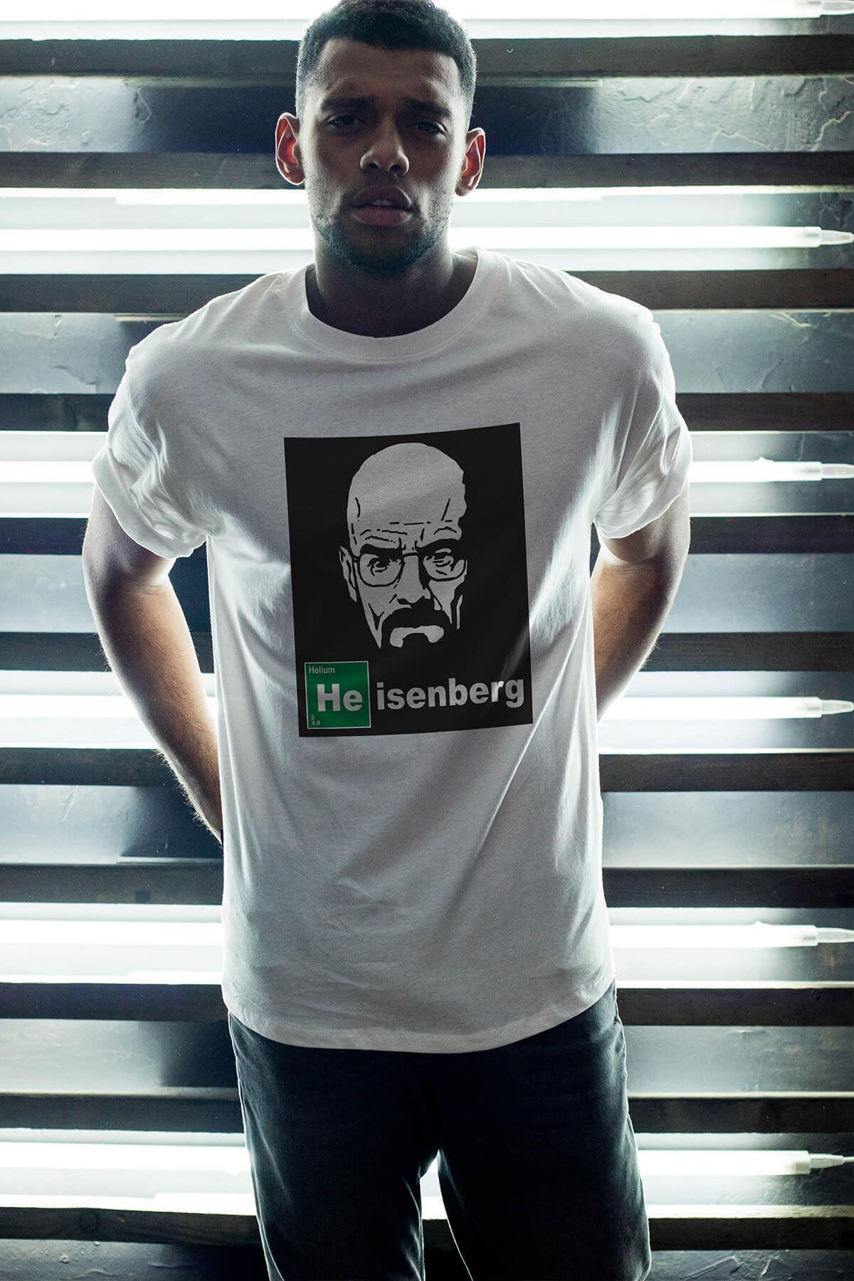 Breaking Bad Heisenberg 13 Beyaz Erkek Oversize Tshirt - Tişört
