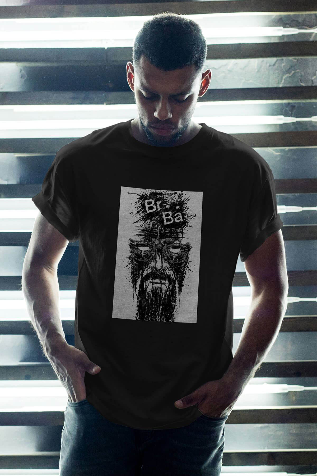 Breaking Bad Heisenberg 15 Siyah Erkek Oversize Tshirt - Tişört