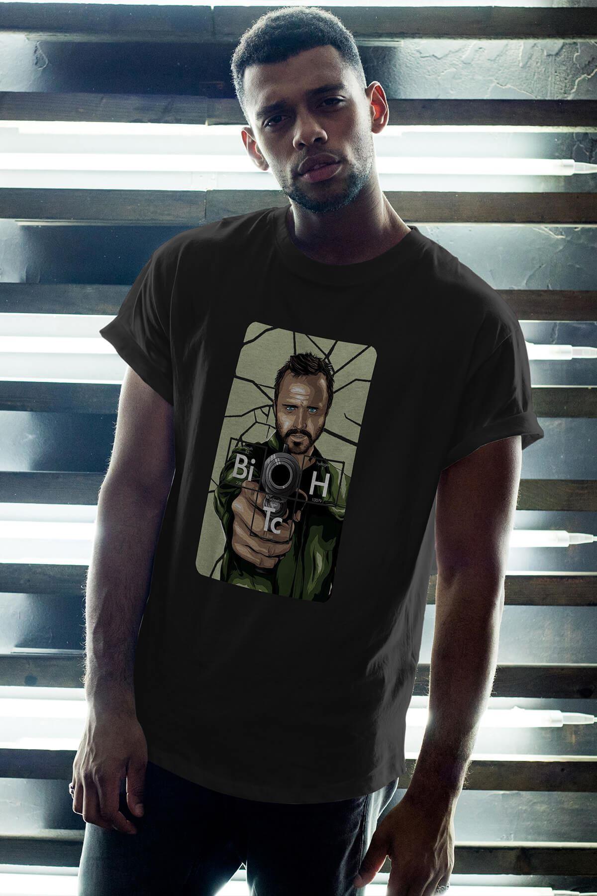 Breaking Bad Jesse Pinkman 17 Siyah Erkek Oversize Tshirt - Tişört