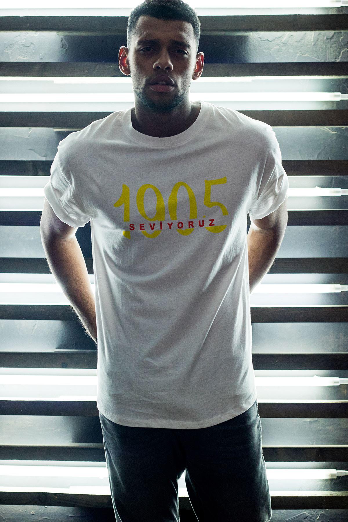 1905-2 GS Beyaz Erkek Oversize Tshirt - Tişört