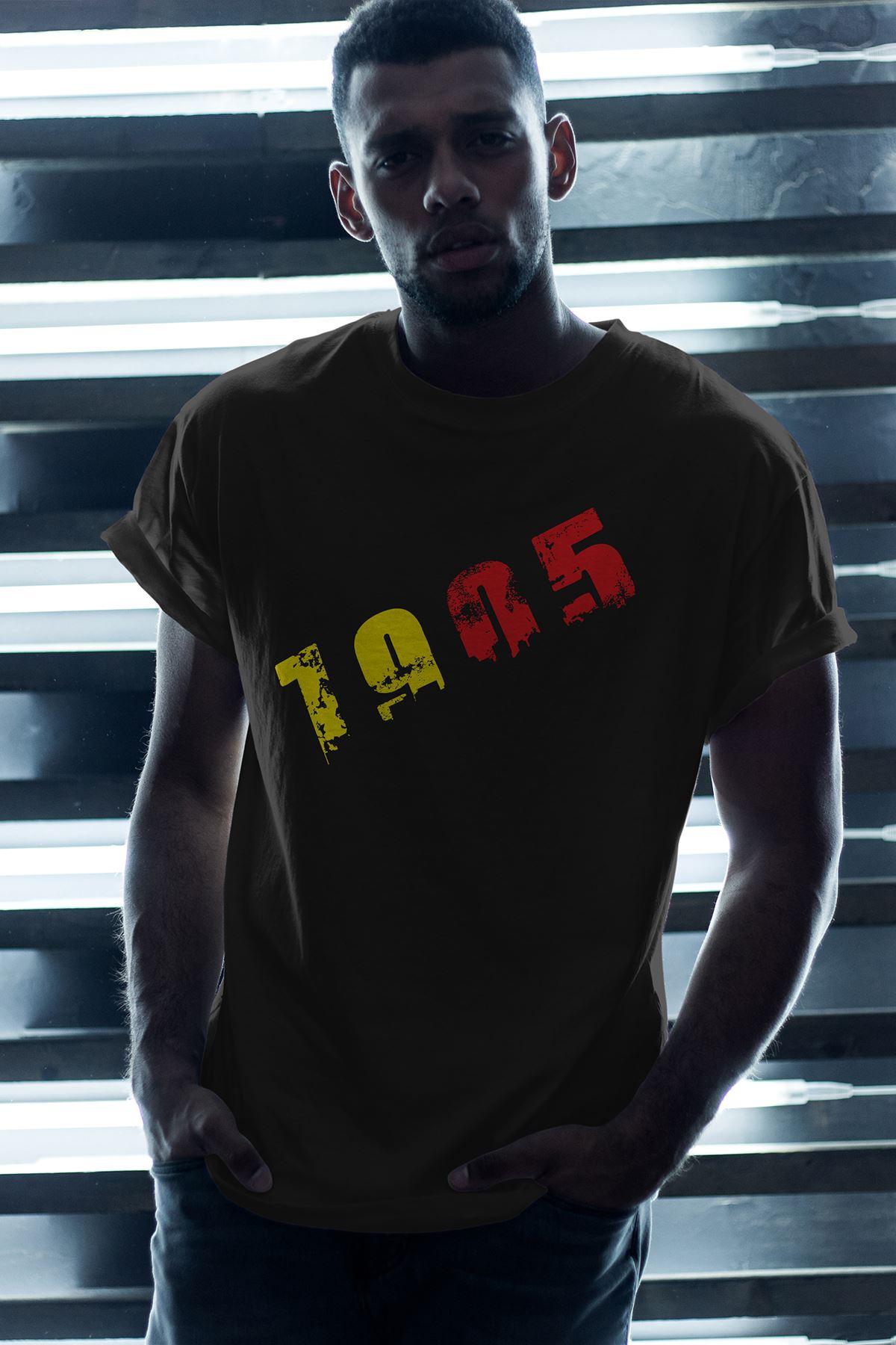 1905 GS Siyah Erkek Oversize Tshirt - Tişört