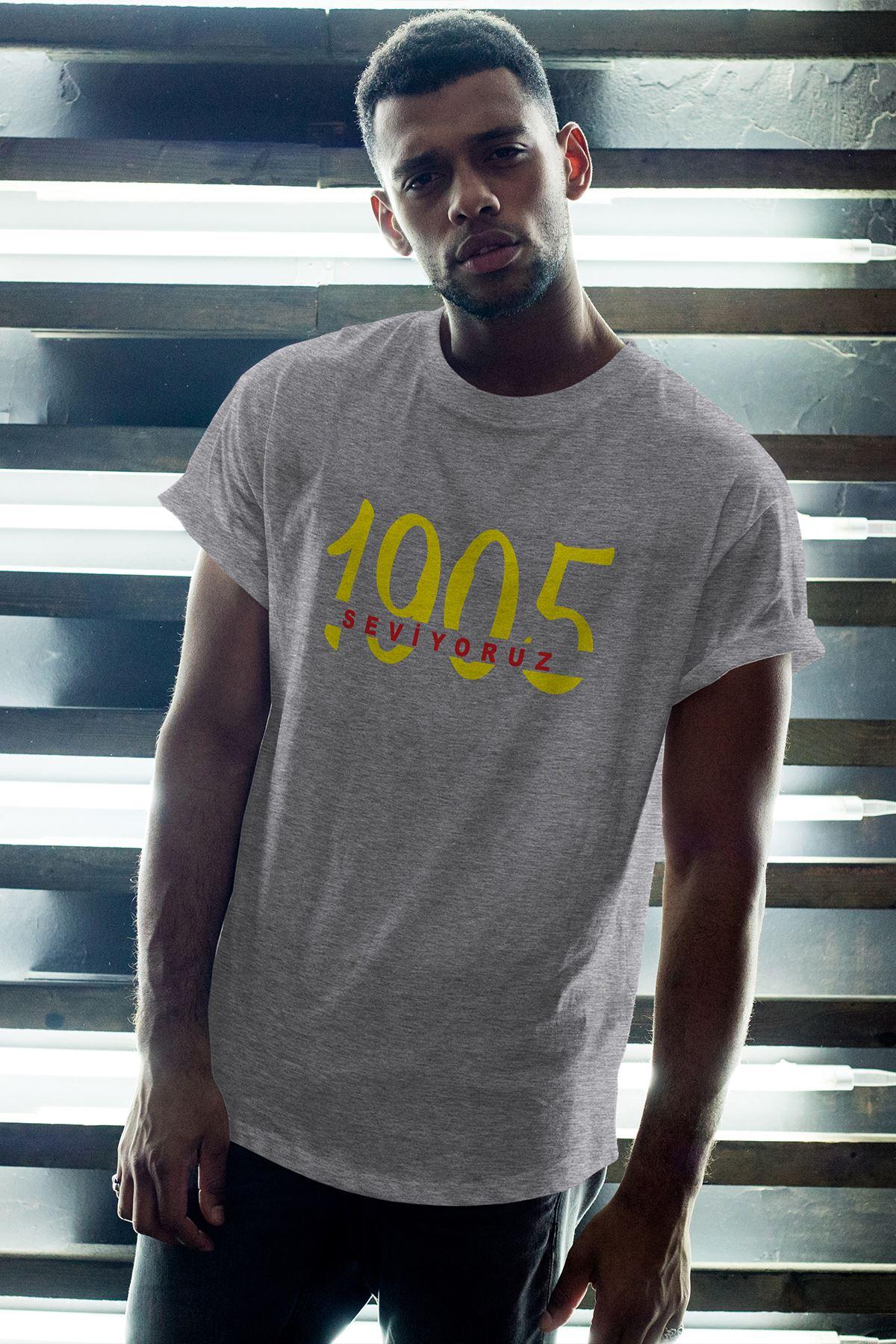 1905-2 GS Gri Erkek Oversize Tshirt - Tişört