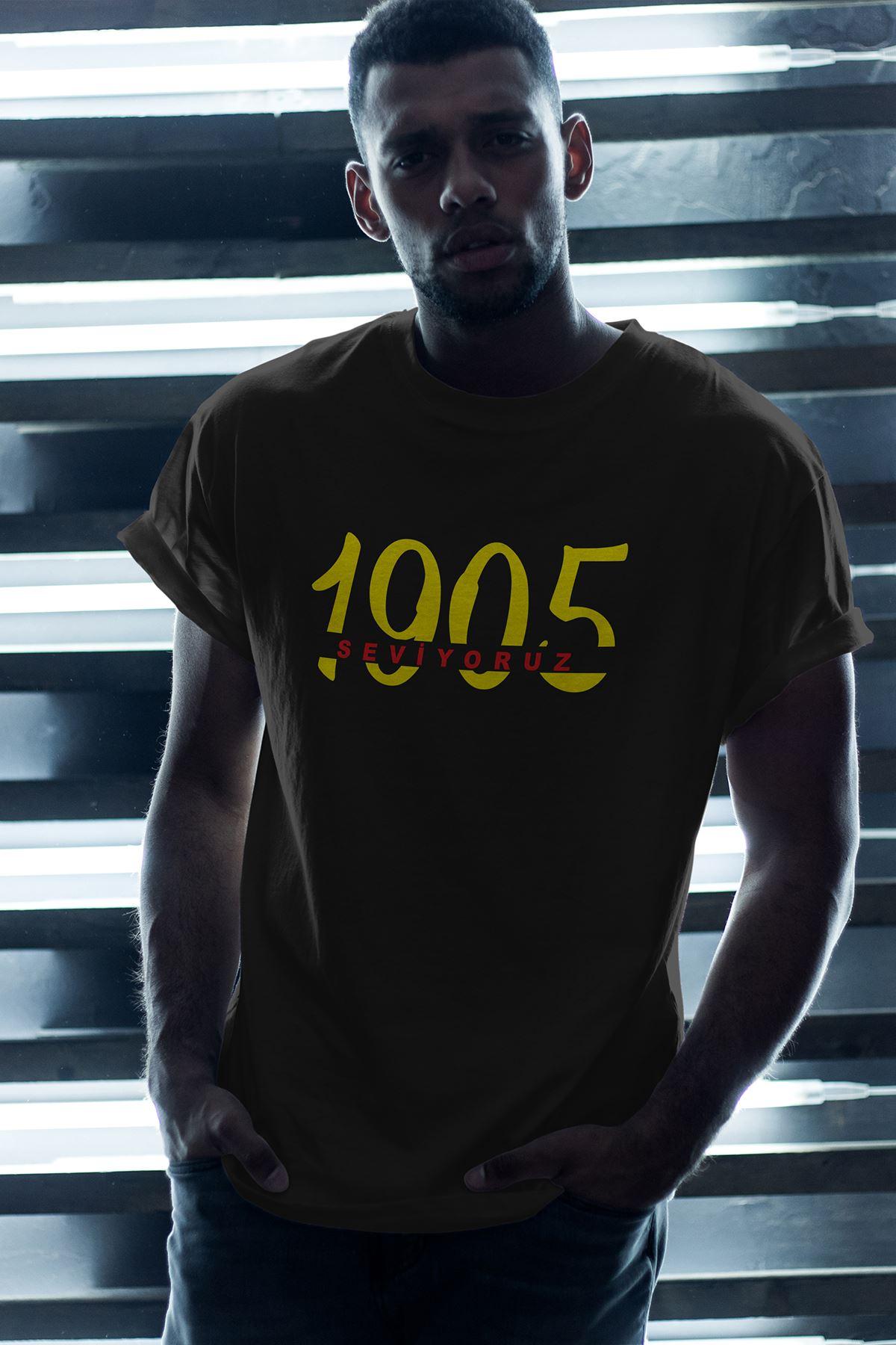 1905-2 GS Siyah Erkek Oversize Tshirt - Tişört